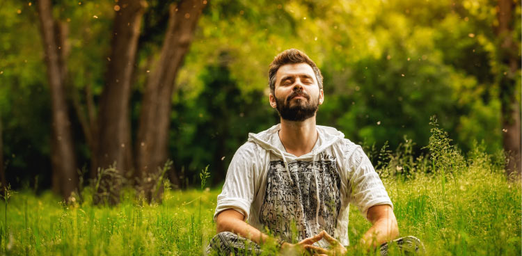 man basking in sunlight and he is energized