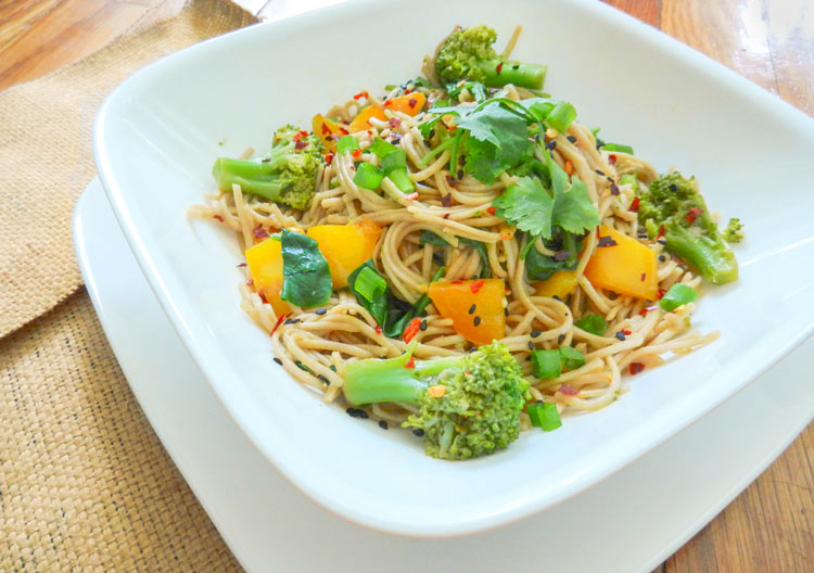 soba noodle asian stirfry