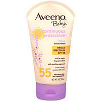 Aveeno Baby Continuous Protection Lotion Sunscreen With Broad Spectrum SPF 55