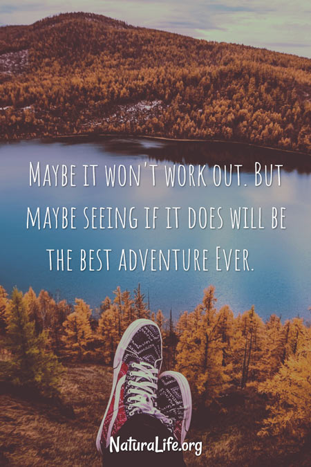 maybe it won't work out. but maybe seeing if it does will be the best adventure ever. Motivational quote