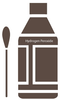 hydrogen peroxide treatment for clogged ears