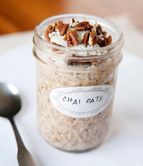 chai overnight oats